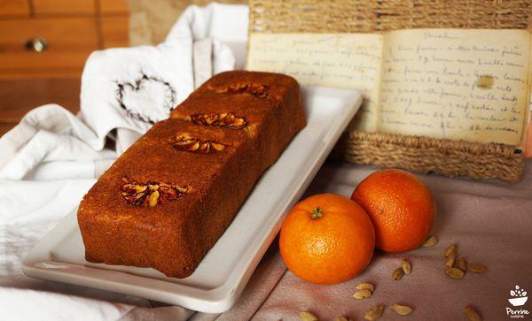 Gâteau orange de ma grand-mère, revisité à la cardamome