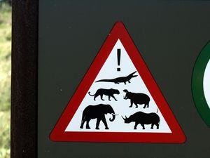 Une signalisation toujours aussi rassurante quand tu dois sortir de ta voiture !