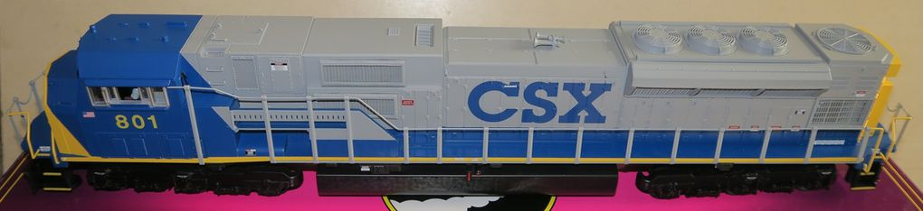 Locomotive Diesel SD-80MAC CSX 3 rails échelle O MTH