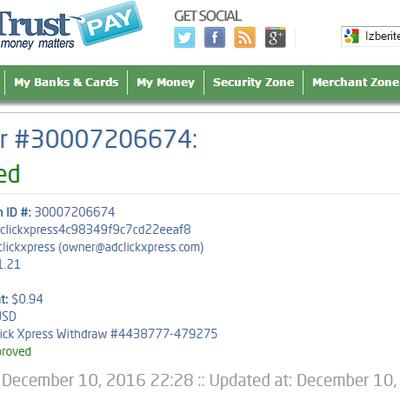 Ad Click Xpress Withdrawal Proof no 2b