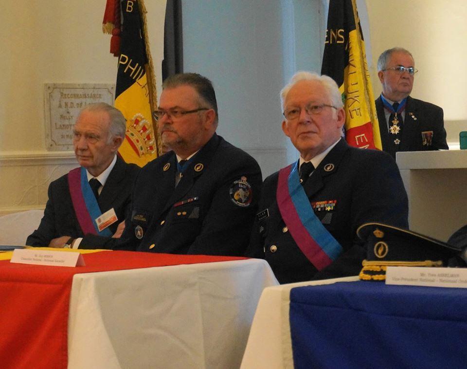 Cérémonie académique à Froyennes (Belgique).