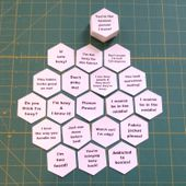 Hexy Talk 1 - Motivational, Inspirational & Funny Hexagon Templates - 1 Inch Sides - 100 Pieces - English Paper Piecing