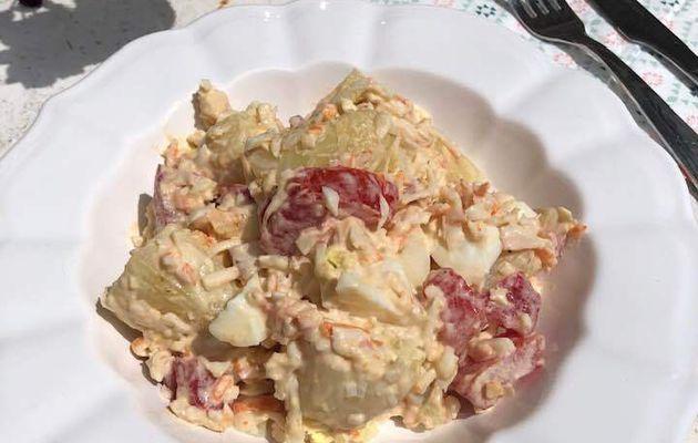 salade de pommes de terre au surimi