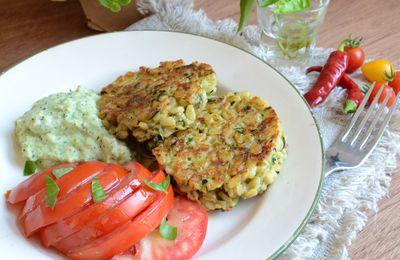 Galettes de blé et courgettes #végétarien