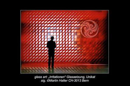Glasaetzung - Glaskunst beinhaltet neue Seherlebnisse