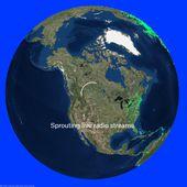 WebRadio géolocalisées - une interface temps réel sur le monde en 3D - OOKAWA Corp.