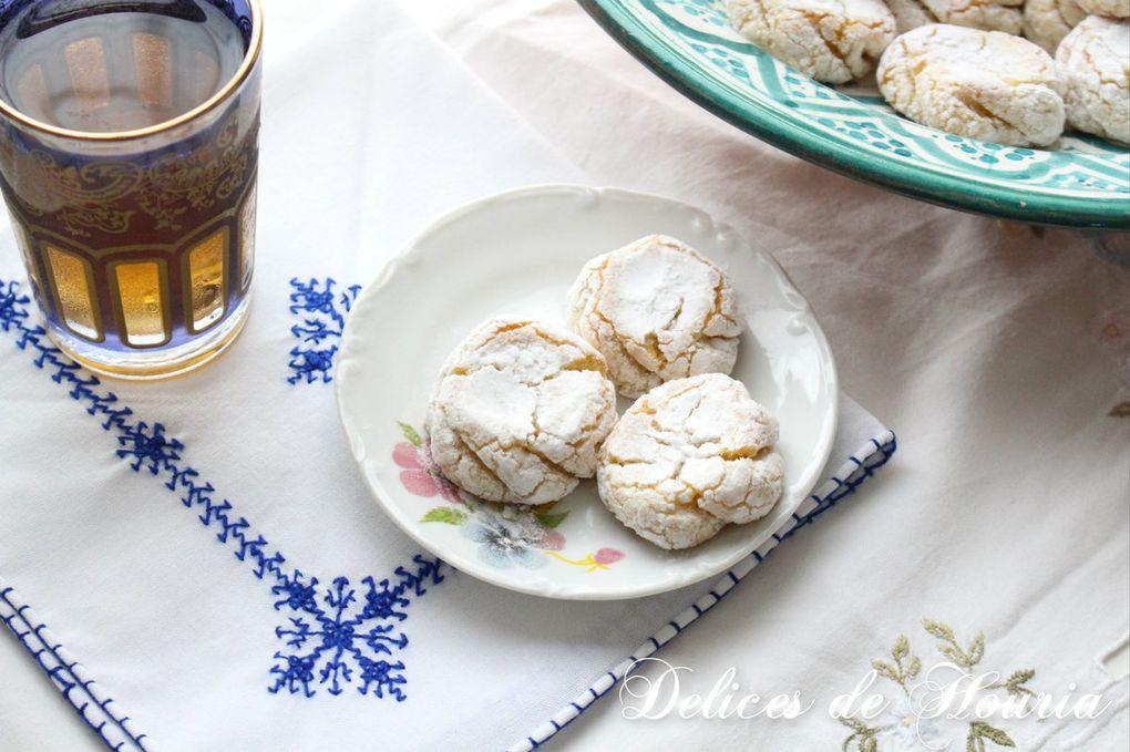 Mlowza - gâteaux marocains aux amandes & citron