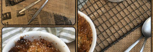 Crumble beurre de cacahuètes & poire 🥜🍐