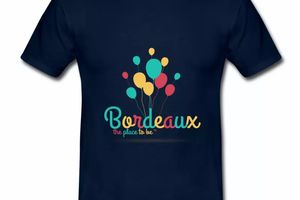 T shirt Gironde bleu m homme 33 Bordeaux the place to be