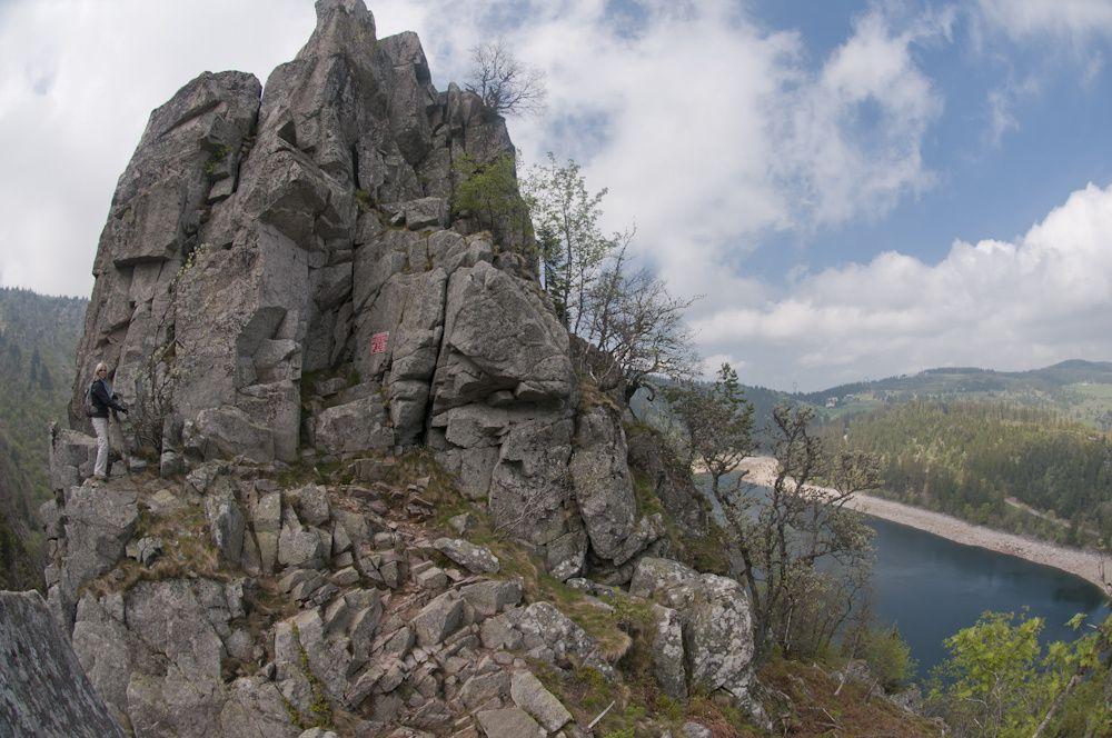 Lac noir, Lac Blanc et le rocher Hans, Gazon du faing et lac des Truites