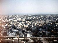 Vues depuis L'Acopole : Athènes Sud  - Colline du Lycabette - Colline du Pnyx