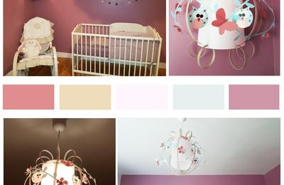 Déco chambre bébé fille : Suspension et applique