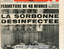 «Fermeture de 48 heures. La sorbonne désinfectée», Parisien libéré, 14/6/1968.