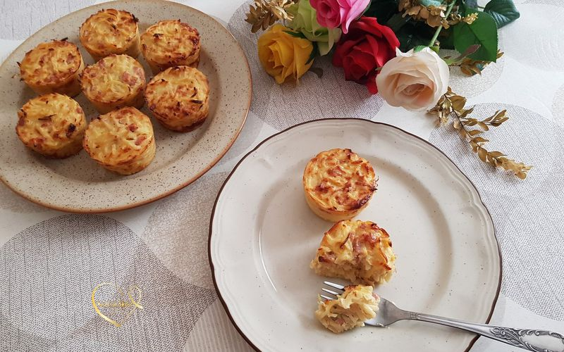 Muffins de pâtes