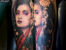 Geisha tattoo by Roxane Duquenne
