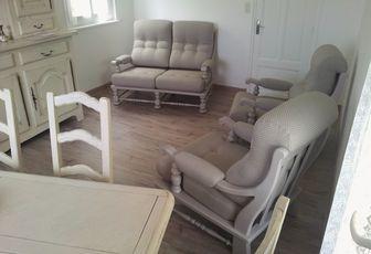 refection complète et peinture salon fauteuil et canapé arabesque thiers