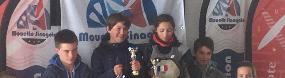 1ère régate du championnat de Bretagne minimes optimist a Séné (56)