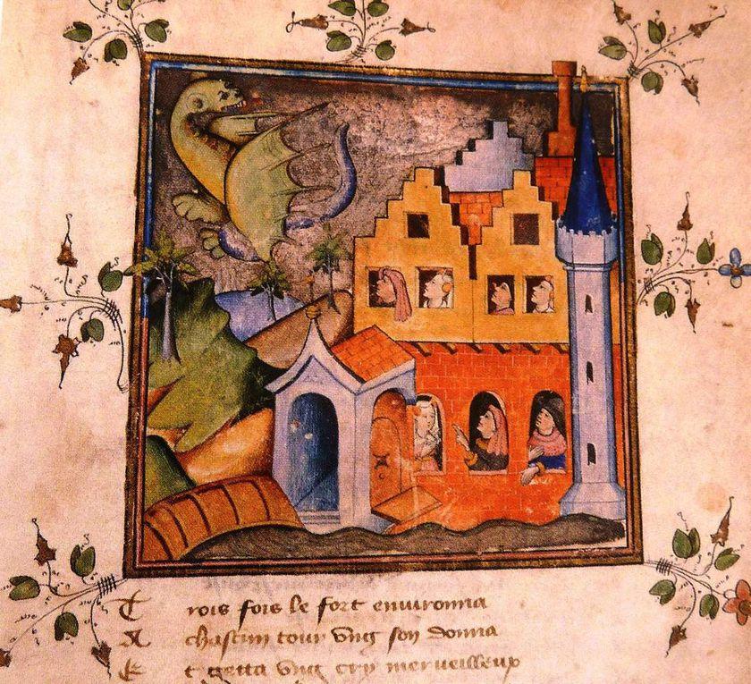 """Les 7 âges du monde et  autres """"Miniatures Flamandes""""de 1404-1482."""