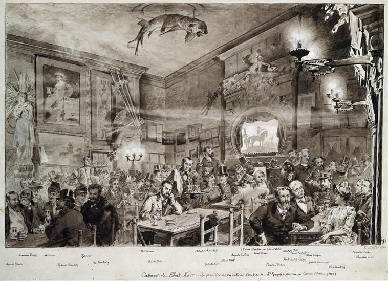 Projection d'ombres de Caran d'Ache, dessin de Paul Merwart (1886) ©www.photo.rmn.fr