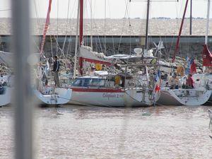 voilier de Patrick (français ) qui a fait la traversée de l'atlantique seul.