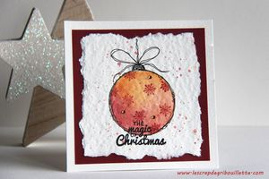 Watercolor Card_Christmas Bauble