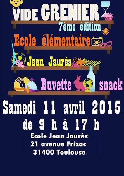 Vide grenier 11 avril Ecole Jean Jaurès