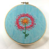Dandelion Puff Embroidery Pattern - Hugs are Fun!