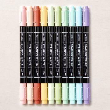 Stampin'write - feutre à eau - aquarelle - coloriage - colorisation feutre - encrage - tamponnage scrap