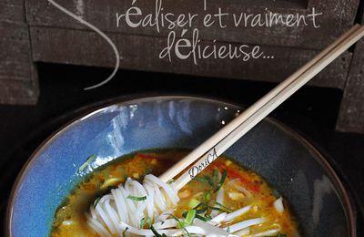Soupe Thaï au tofu soyeux
