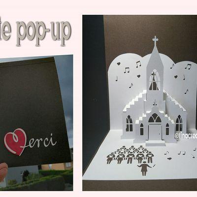 carte pop-up église