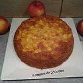 Gateau aux pommes sans gluten et sans lait au thermomix ou sans - La cuisine de poupoule