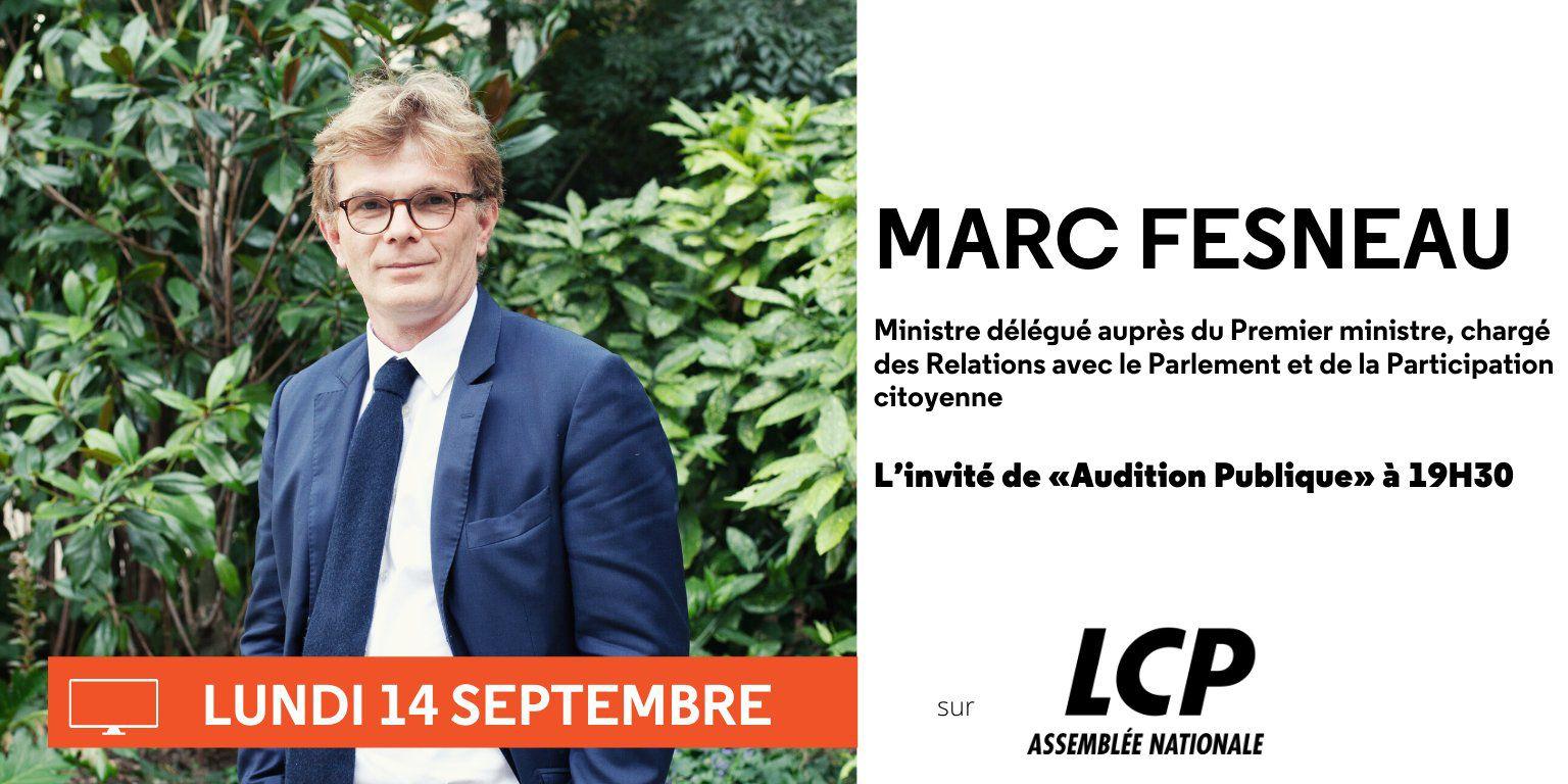 Marc Fesneau invité de l'émission Audition Publique demain soir à 19h30