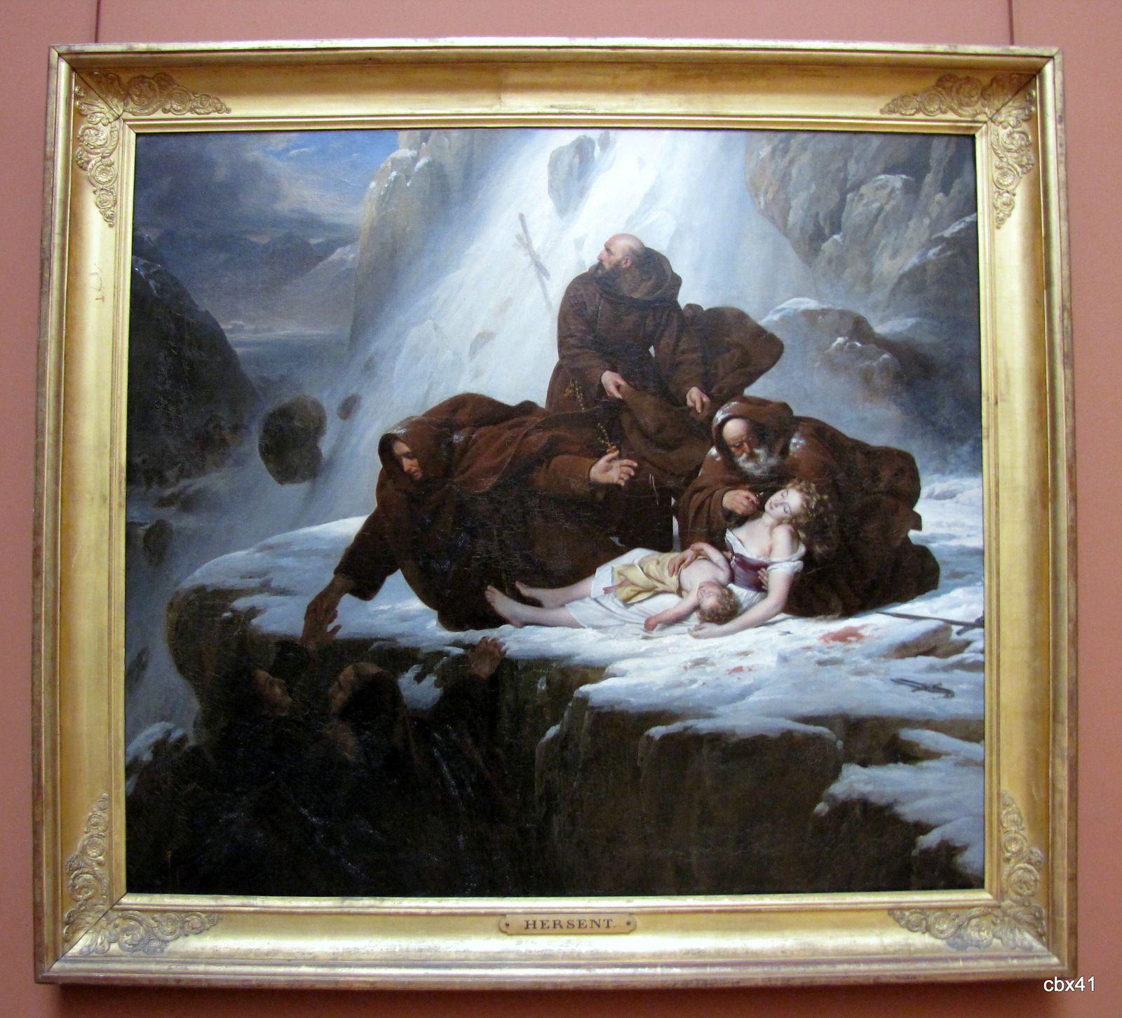 Louis Hersent, Les religieux du mont Saint-Gothard