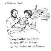 #Noethember, drawings about Emmy Noether - Constanza Rojas-Molina