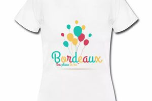 T shirt Gironde blanc femme 33 Bordeaux the place to be