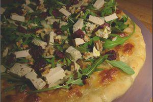 Pizza au foie gras végétal (recette de Noël)