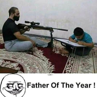 Father of the year. What do you think?