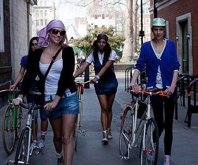 Mode fixie pour les filles à Londres