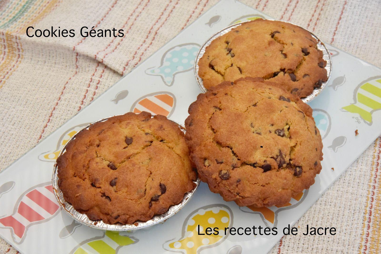 Cookies géants au coeur coulant