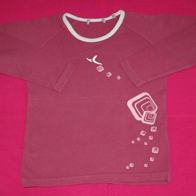 Tee shirt rose foncé Décathlon - 3 ans