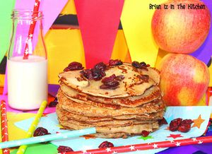 Pancakes Pomme, Cannelle et Cranberry