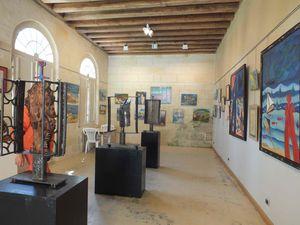 Exposition au Château de Courtanvaux.