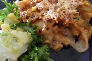 Lasagnes de bœuf et légumes