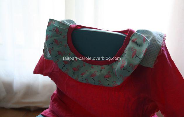 tee shirt customisé flamant rose