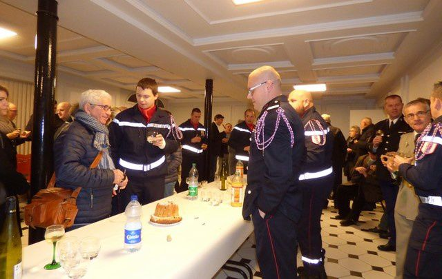 Les Pompiers de Neuf-Brisach fêtent Sainte Barbe
