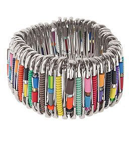 How to make Safety Pin Bracelet - DIY Craft Project from Craftbits.com