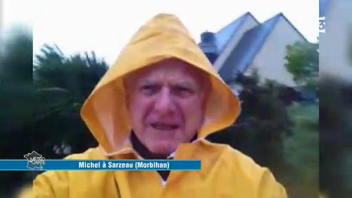 En pleine tempête Carmen, un téléspectateur de France 3 réalise une vidéo dans la plus grande difficulté !
