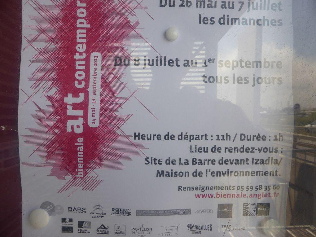 Vues de la Biennale d'Anglet, site de La Barre © photographies Le Curieux des arts Gilles Kraemer, 1er juillet 2013
