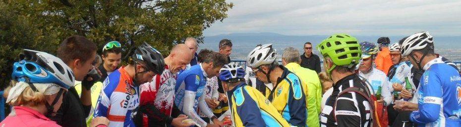 16/10/16 GDD/BCB : La Sortie Casse Croûte avec les VTTistes du Beau Cyclo Bollénois.