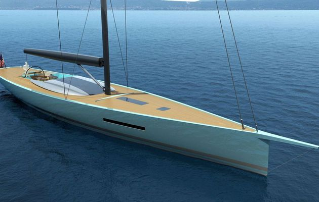 Philippe Briand unveils full details of his new 30m carbon sloop concept Egoist